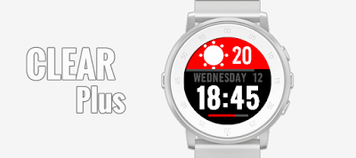 CLEAR Plus watchface for Pebble Time Round
