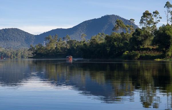 Situ Cileunca di Pangalengan Bandung Selatan