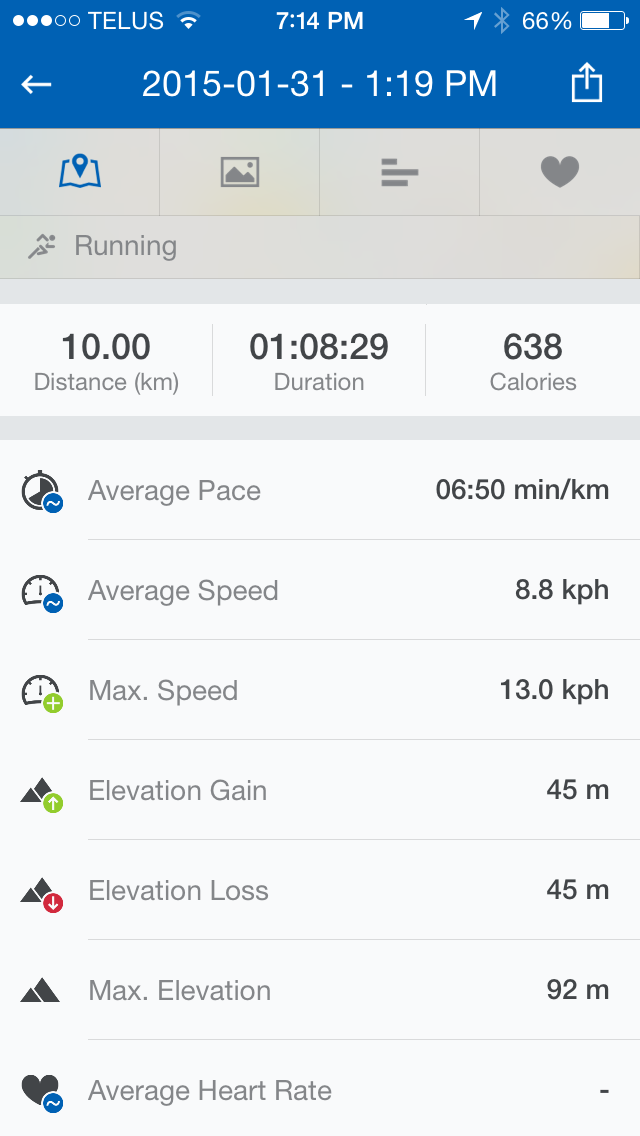 Image of Runtastic Pro App on iPhone 6