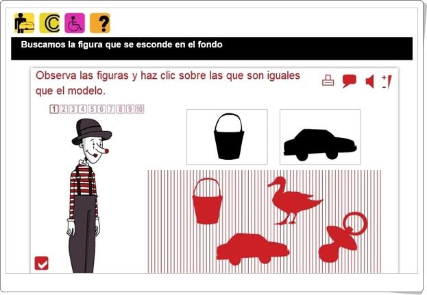 """""""Discriminación visual de Figura/Fondo"""" (Actividad interactiva de Educación Infantil)"""