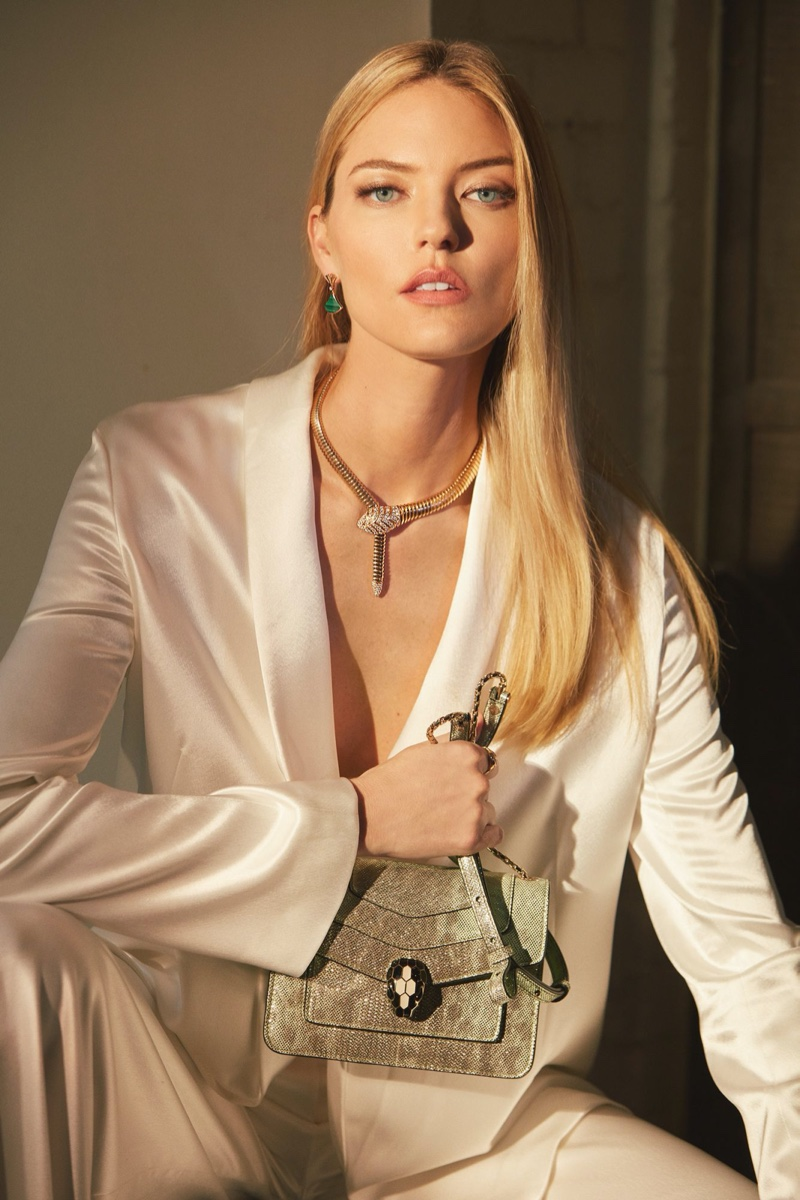 Martha Hunt stars in Bulgari jewelry campaign.