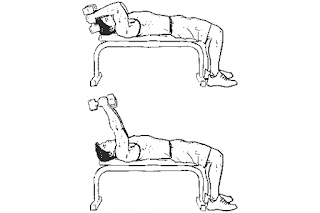 6. Lying Dumbbell Tricep Extensions