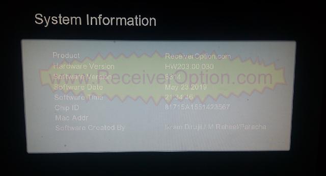 GX6605S HW203.00.030 TYPE HD RECEIVER TEN SPORTS OK NEW SOFTWARE
