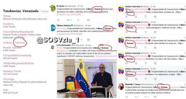 Error de escritura dejó en evidencia las miles de cuentas falsas de Twitter del régimen - Tusirmo
