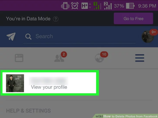 how to delete facebook pictures on iphone