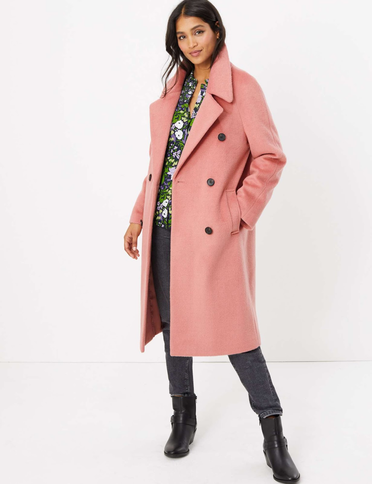 Marks and Spencer raglan sleeve overcoat