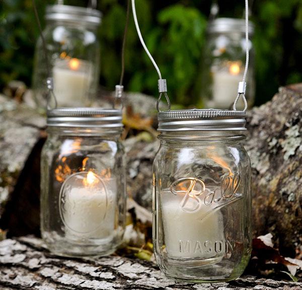 10 formas creativas de utilizar tarros de cristal for Farolillos para velas