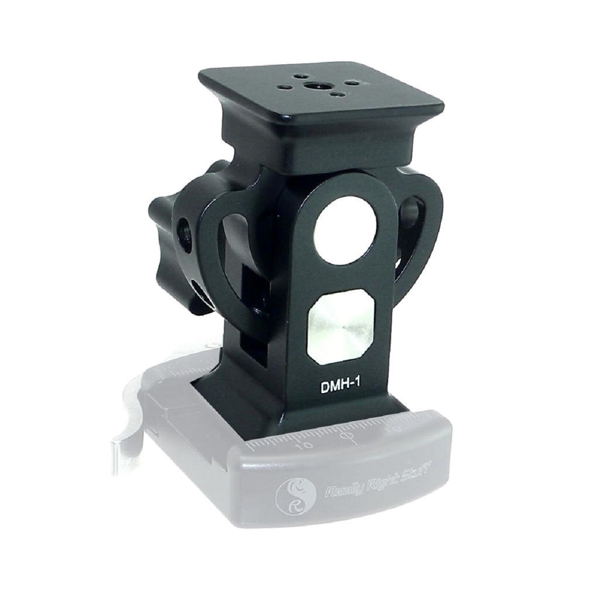Desmond DMH-1 Monopod Tilt Head on RRS Lever QR Clamp