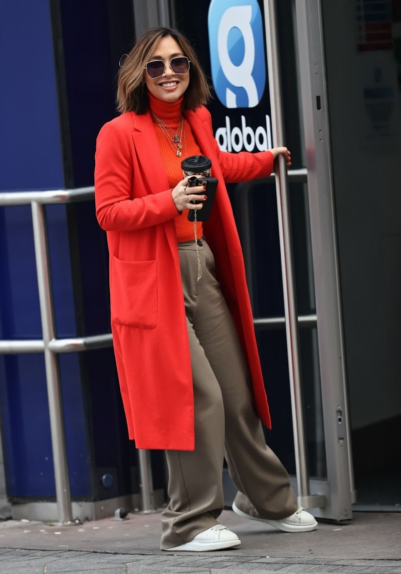 Myleene Klass Arrives at Classic FM Studios in London 31 Dec-2020
