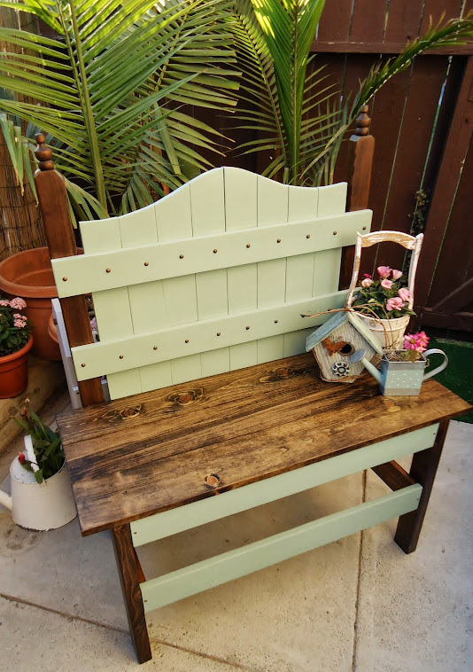 Charming Vintage Style Bench - SOLD