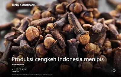 Produksi Cengkeh Indonesia Menipis