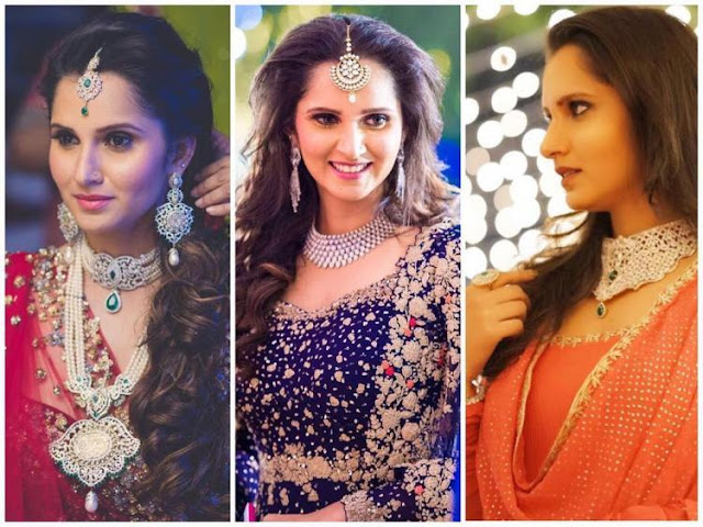 Sania Mirza Pearls Jewellery