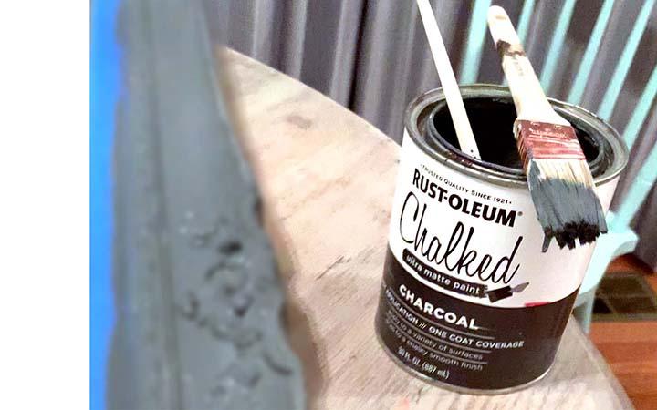 Rustoleum charcoal chalked paint