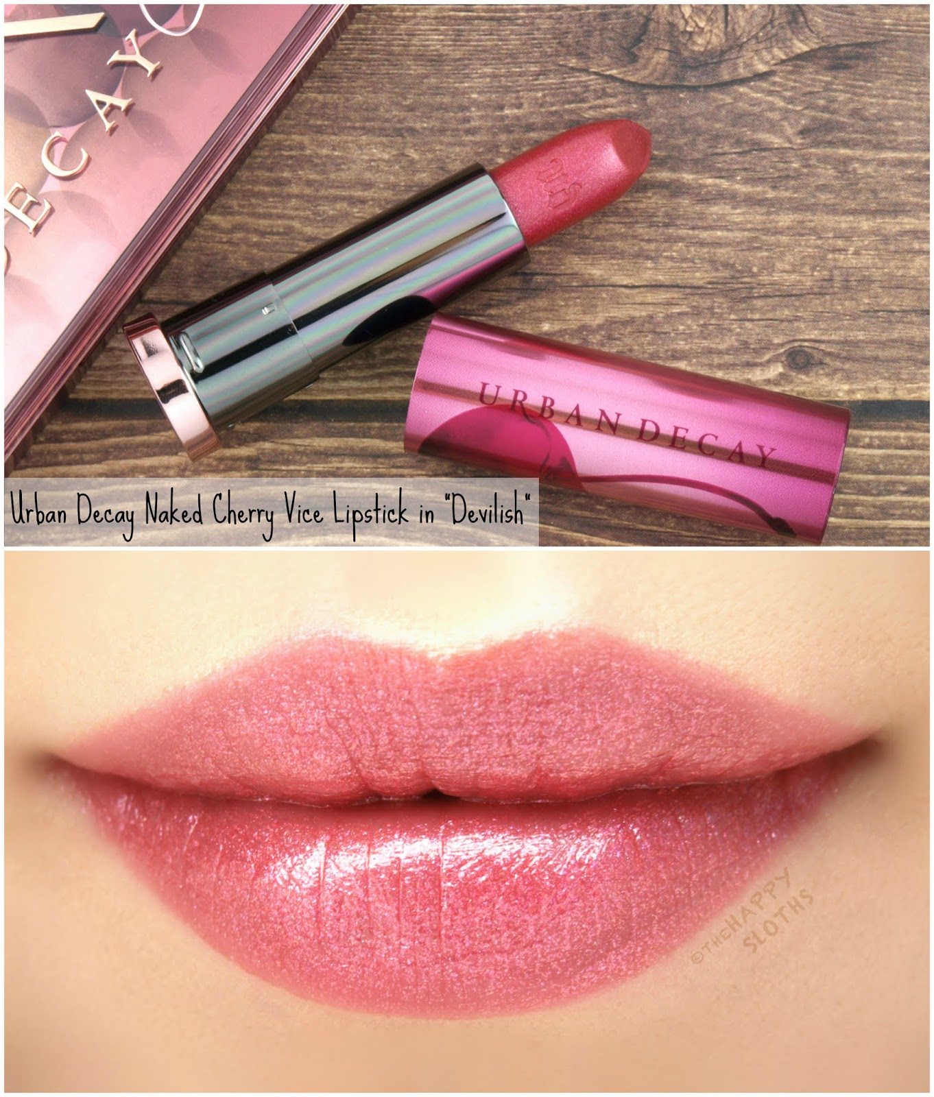 "Urban Decay | Naked Cherry Vice Lipstick in ""Devilish"": Review and Swatches"