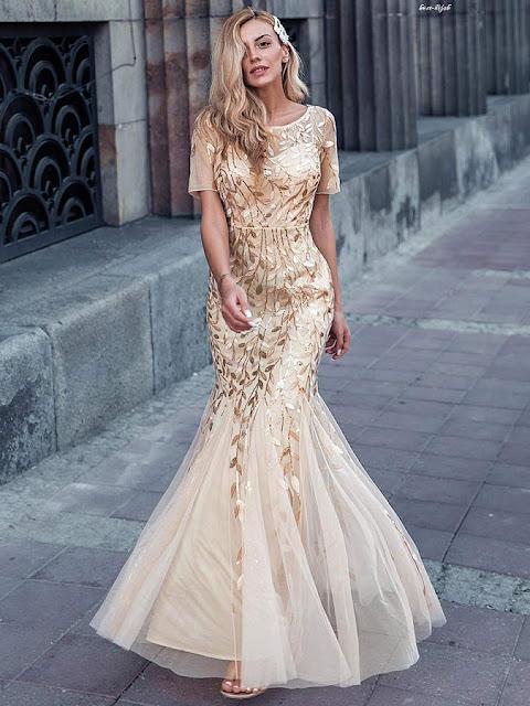 التسوق لفساتين السهرة