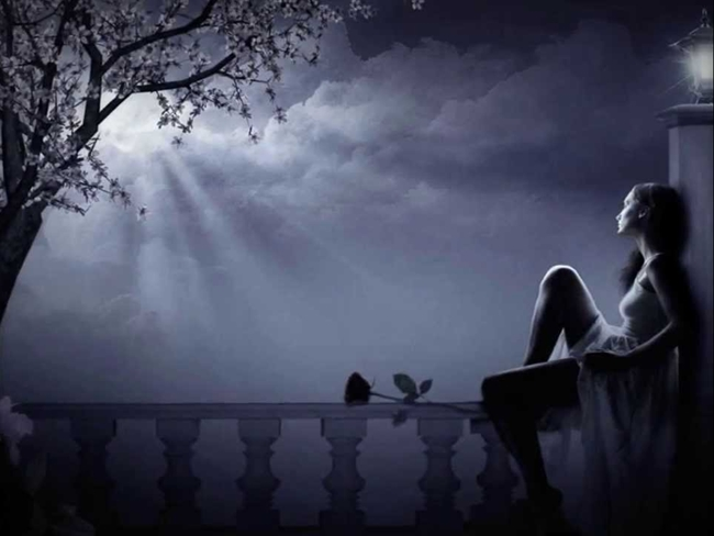 Long Distance Love, love poetry, single women waiting for love, sensual night love, girl waiting for lover, Dreaming love at dusk moonlight