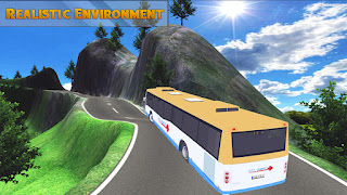 Game Simulasi Bus Android - Mountain bus simulator 3D