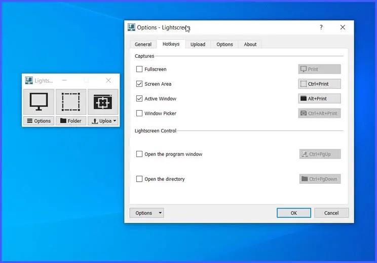 Lightscreen : Αυτοματοποίηση αποθήκευσης και καταγραφής  στιγμιότυπων οθόνης