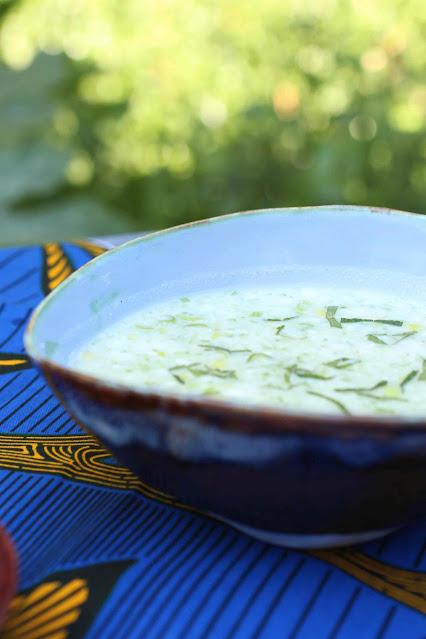 soupe au concombre