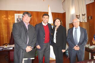 Una franca reunión sostiene Colegio de Periodistas El Loa con alcalde de Calama