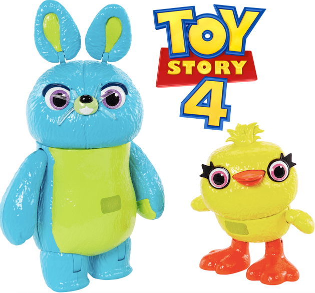 Toy Story 4 Ducky and Bunny toys