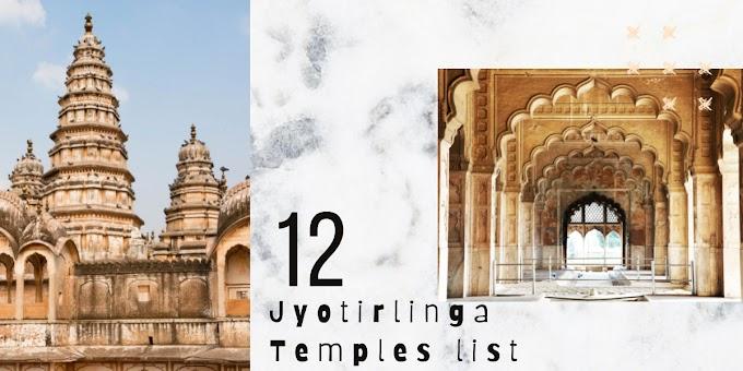 12 Jyotirlinga Temples List