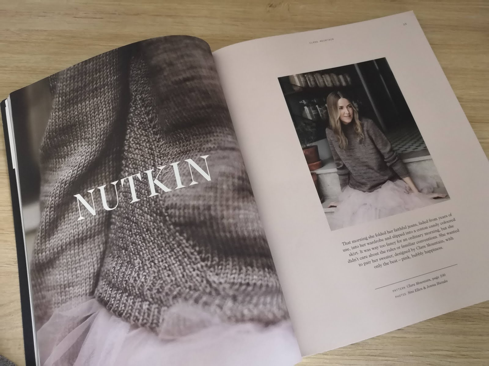 Nutkin sweater from Laine Magazine Issue 5, hacked to be knit in the round