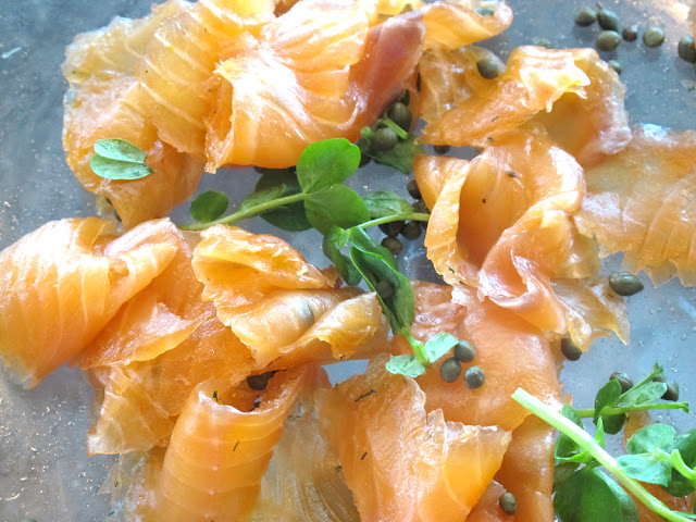 Smoked salmon at Darwin brasserie - Sky Garden, London brunch