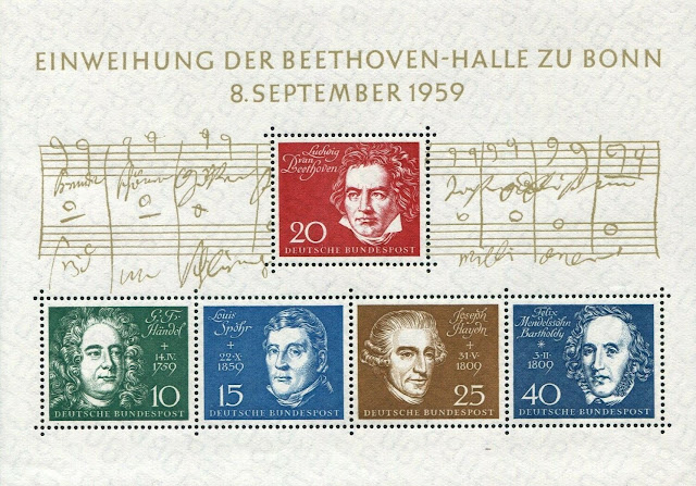 Germany Beethoven Sheet of 5