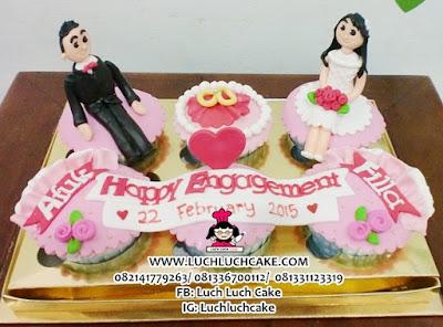 Cupcake Hantaran Lamaran - Engagement Cupcake
