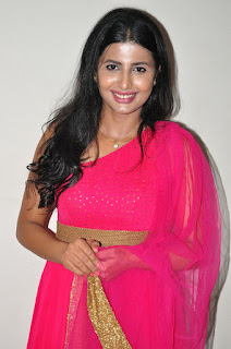Rajshri Ponnappa in a Beautiful Sleeveless pink Anarkali Dress Spicy Pics