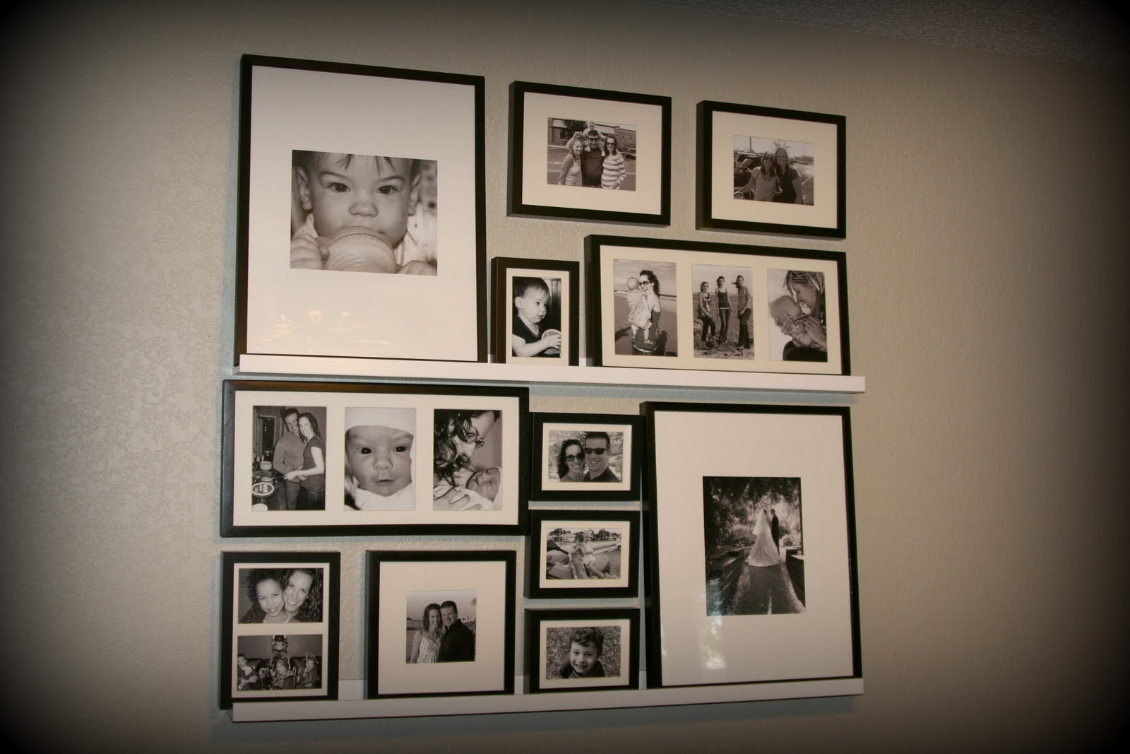 One more thing decorating with picture ledges - Photo decoration on wall ...