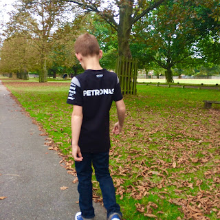 Anthony with autism in the park