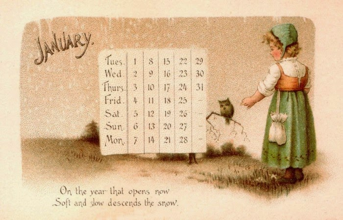 Plantillas Calendarios Escenas Antiguas