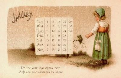 Plantillas Calendarios con Escenas Antiguas