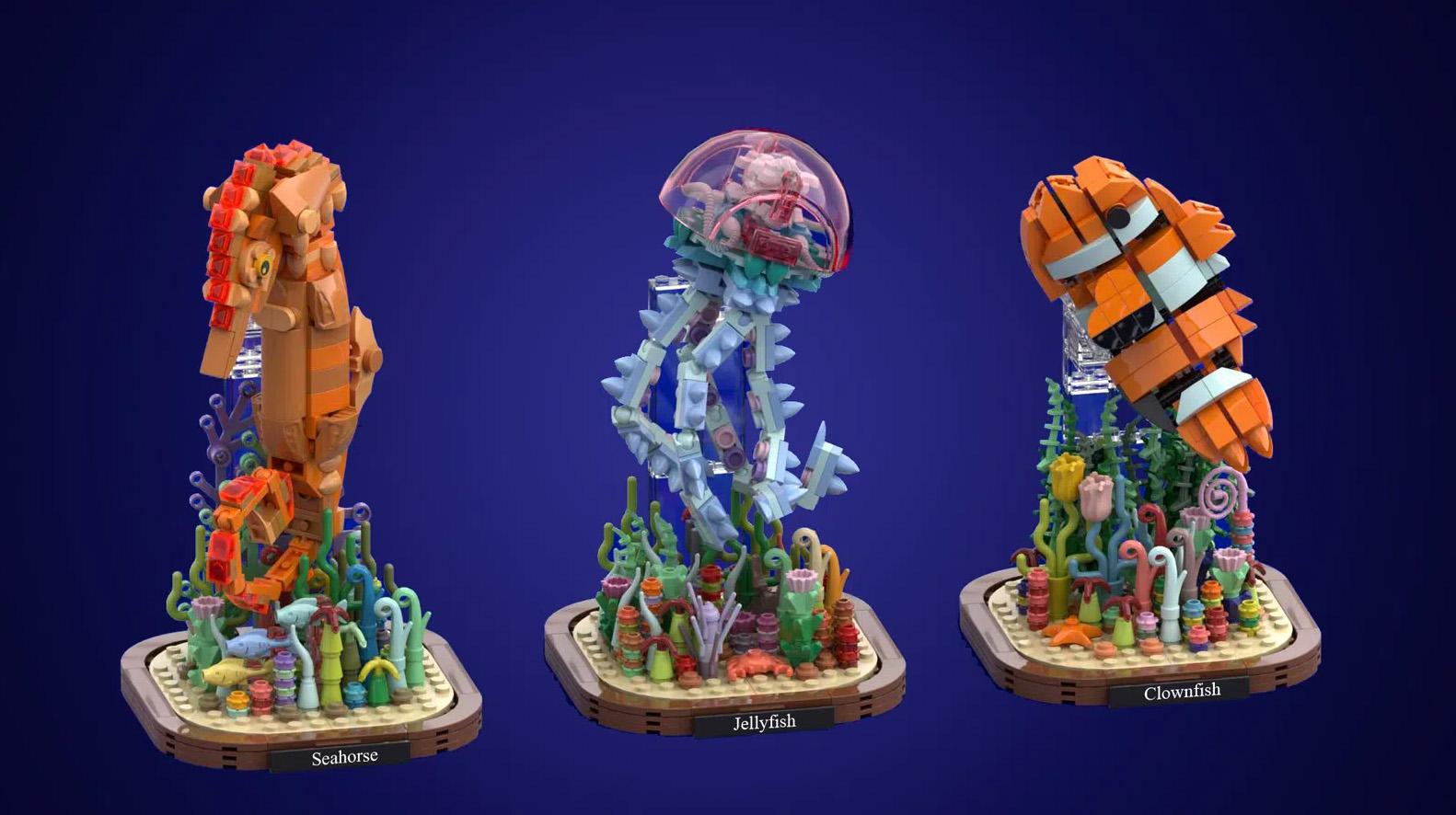 レゴアイデアで『海の生き物』が製品化レビュー進出!2021年第1回1万サポート獲得デザイン紹介