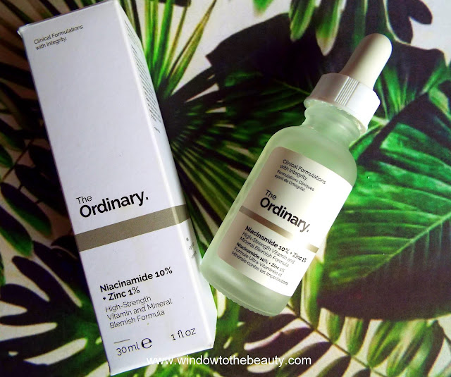 the ordinary Niacinamide 10% + Zinc 1% review
