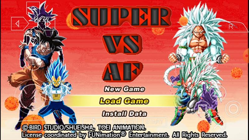 Android PSP Game Dragon Ball Super Vs AF Vs Heroes DBZ TTT MOD With Permanent Menu
