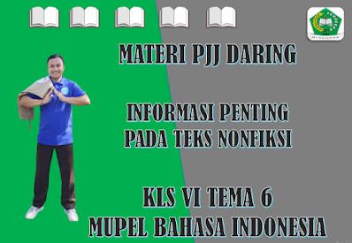 Materi Bahasa Indonesia Kelas VI Tema 6 Subtema 3 - Informasi Penting pada Teks Nonfiksi