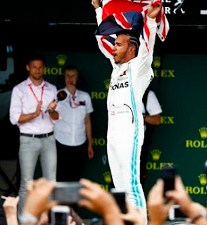 Hamilton wins record 6th British GP, after Vettel crashed extends 2019 F1 leads