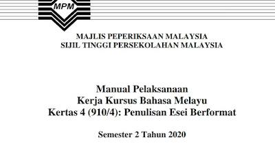 Contoh Tajuk Kerja Kursus Bahasa Melayu STPM 2020 (Jadual)