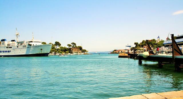 mare, acqua, nave, traghetto, porto, isola Ischia, cielo