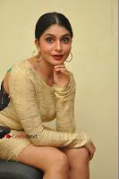 Actress Pooja Roshan Stills in Golden Short Dress at Box Movie Audio Launch  0095.JPG