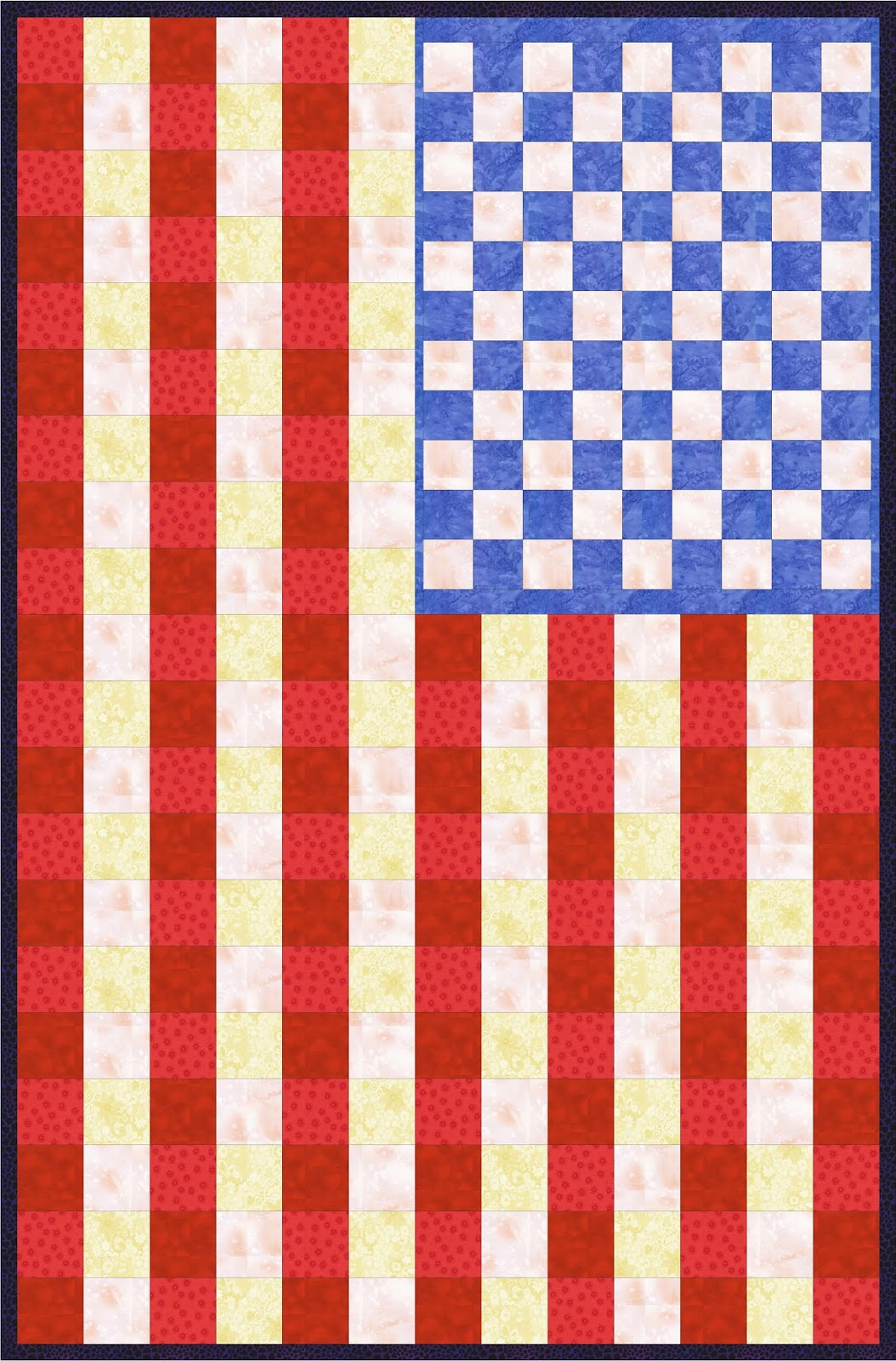 A Quilting Chick American Flag Quilt