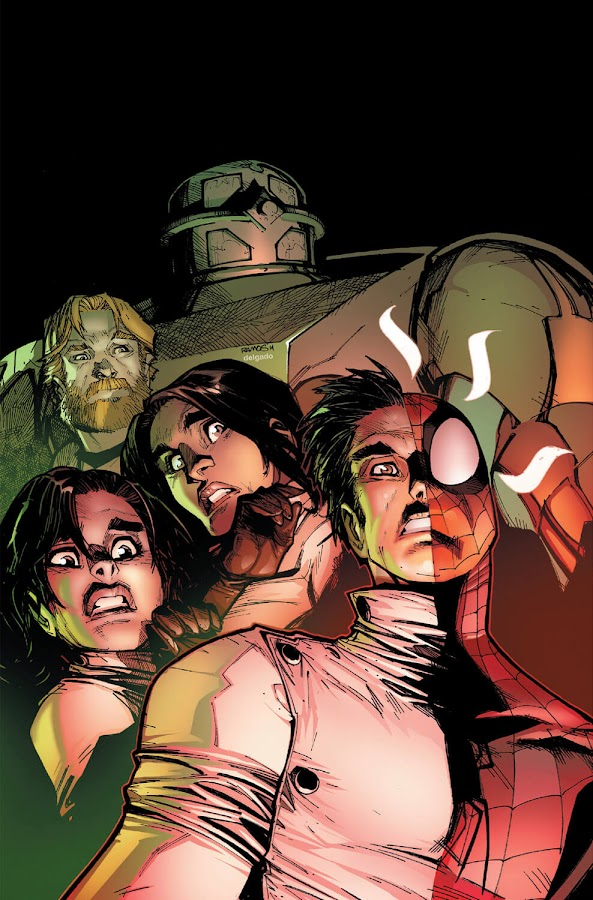 amazing spider man graveyard shift marvel comics parker industries peter parrker anna maria marconi living brain sajani jaffrey clayton cole clash christos gage dan slott humberto ramos