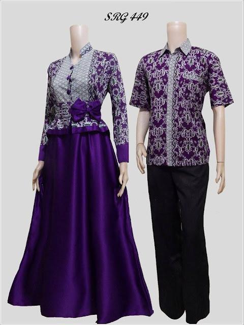 Model Gamis Batik Pasangan Untuk Pesta Pernikahan Terbaru