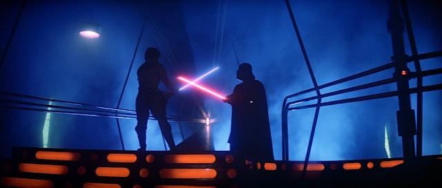 luke battles darth vader in empire