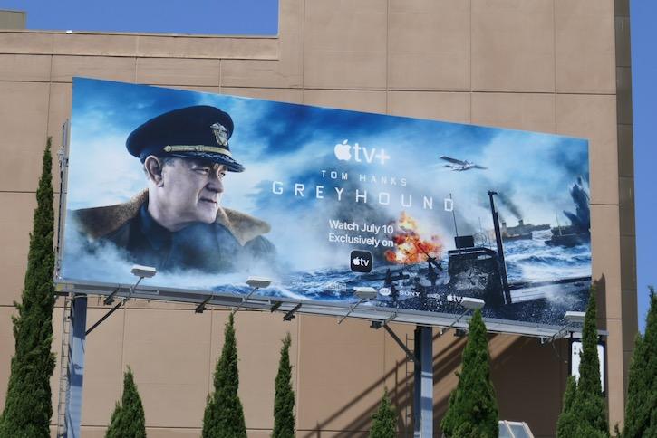 Greyhound Apple TV movie billboard