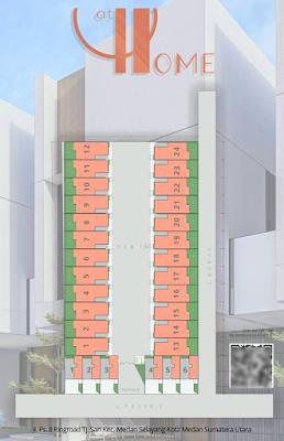 Floor Plan Rumah Murah Baru Di Medan Promo DISKON 100 Juta dan Free Biaya Akad (AJB, Pajak, Balik Nama) - AT HOME