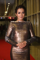 Actress Catherine Tresa in Golden Skin Tight Backless Gown at Gautam Nanda music launchi ~ Exclusive Celebrities Galleries 081.JPG